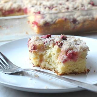 Rhubarb Streusel Cake #SummerDesserts