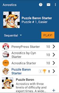 Acrostics Crossword Puzzles screenshot