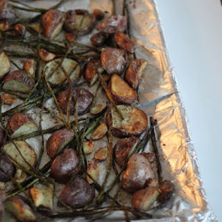 Charred Asparagus With Roasted New Potatoes
