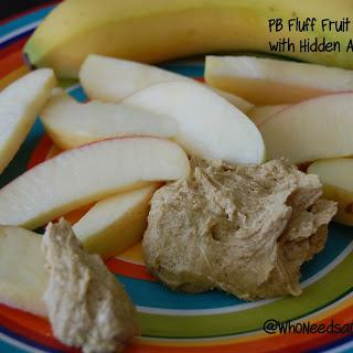 Peanut Butter Fluff - Hidden Avocado Fruit Dip.