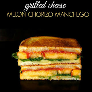 Sugar Kiss Melon and Chorizo-Manchego Grilled Cheese