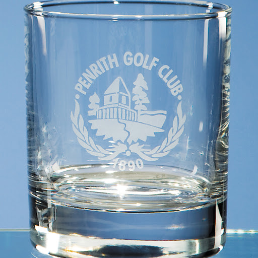 Engraved Glass Whisky Tumblers