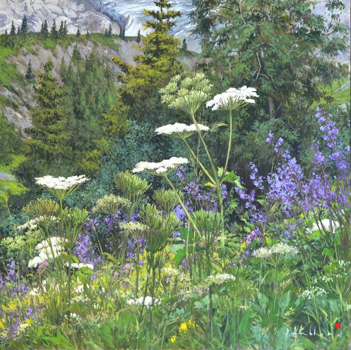 Berce au Tricot. oil on canvas, 80x80cm