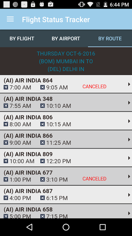 Flight Status Tracker- screenshot