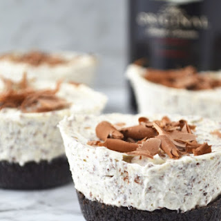 Boozy Baileys Mini Cheesecakes