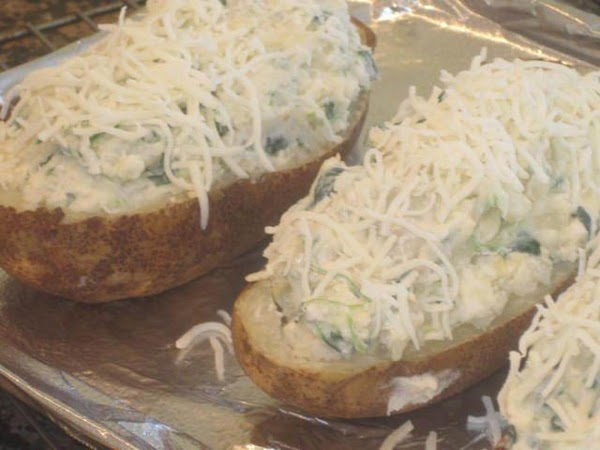 Top with a little extra mozzarella cheese if you like, and bake in 350...
