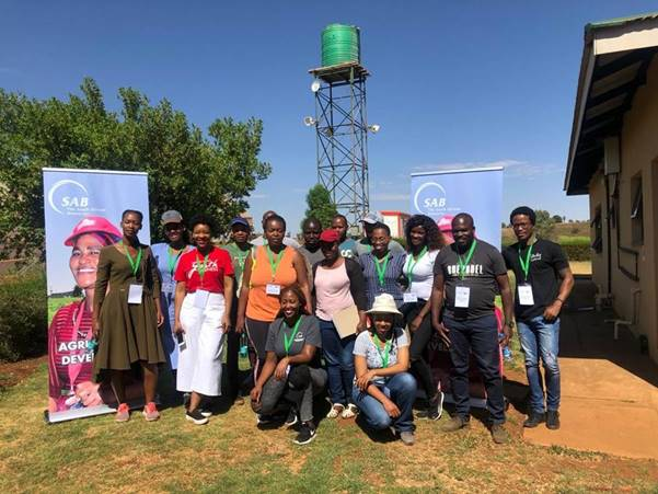 The Urban Agriculture finalists, powered by SAB KickStart, with members of the SAB enterprise & supplier development and Made from Rural teams.