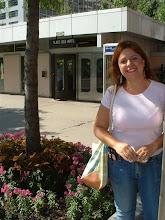 """Photo: Ale frente a la estacion """"Places d'Arts"""""""