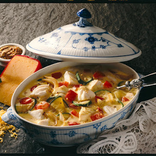 Fish Stew with Cheddar