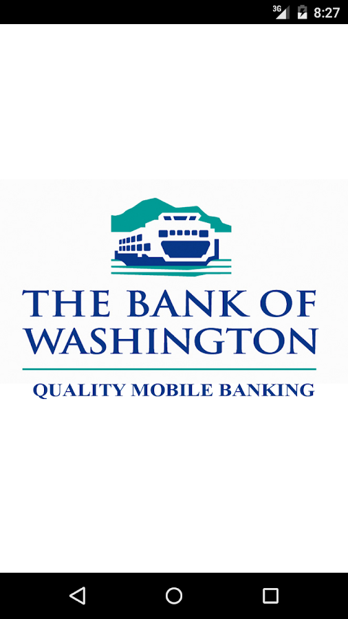The Bank of Washington Mobile- screenshot