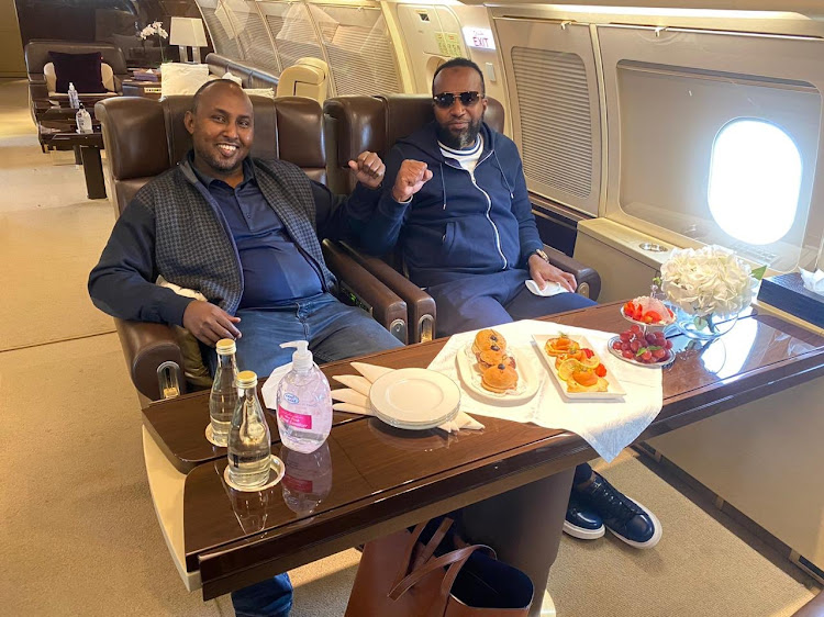 Suna East MP Junet Mohammed and Mombasa governor Hassan Joho./courtesy