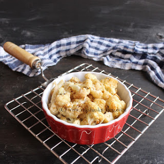 Oven Roasted Cauliflower.