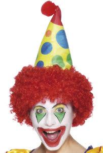 Clownhatt med hår