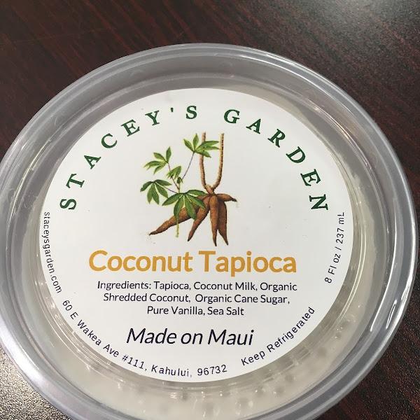Diary free tapioca made with coconut milk