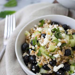 Blueberry & Farro Salad.