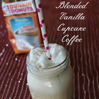 Blended Vanilla Cupcake Coffee Recipe - Low Calorie.