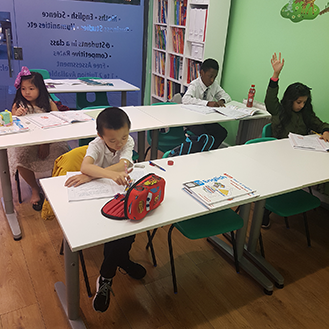 a class of young tutoring students during a tutor lesson