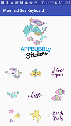 Screenshot for Beautiful Mermaid Keyboard Stickers for Gboard in Hong Kong Play Store