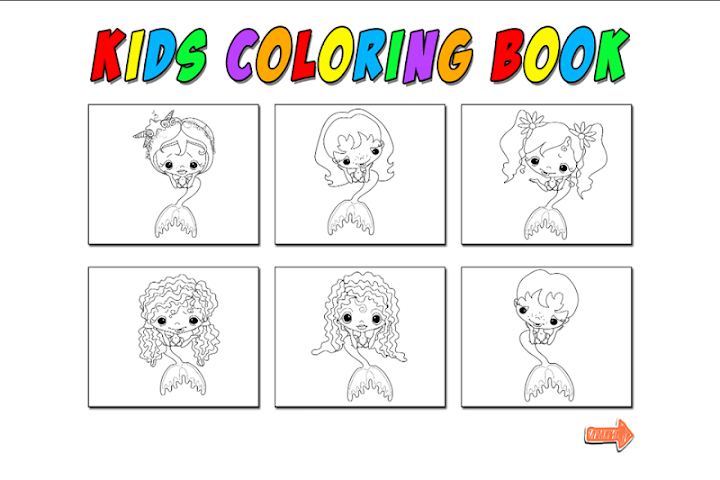 android Kids Coloring Mermaid Screenshot 6
