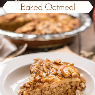 Apple, Pear, and Almond Baked Oatmeal