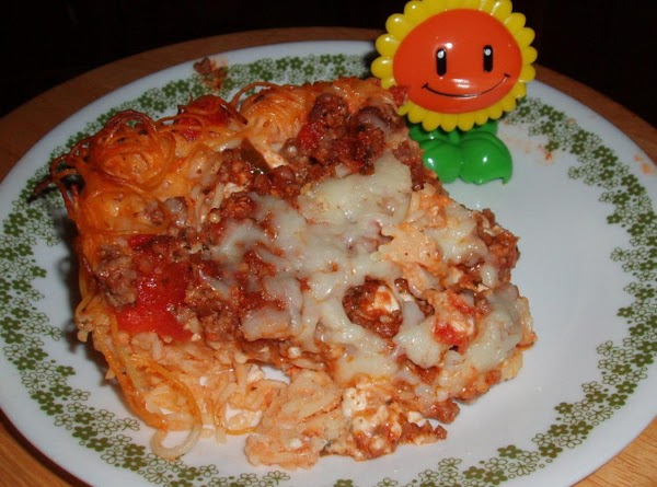 Brendas  Spaghetti Pie Version Recipe