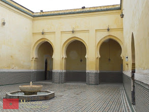 Photo: the entrance of the mausoleum for Moulay Ismaïl in Meknes