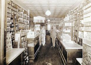 Photo: Bernard Sternbach (R) in His Paint Store