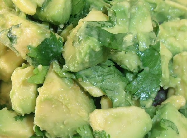 in a small mixing bowl combine avocado, cilantrao lime juice & salt.  fold...
