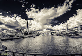 Photo: Good evening to all.  Another one from #London taken during a sightseen trip with the bus. Taken on the #towerbridge .  Form #breakfastclub by +Gemma Costa +Breakfast Club  +History Thursday #historythursday   #bwphotography #blackandwhitephotography