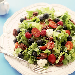 Berry Caprese Salad with Light Balsamic Vinaigrette