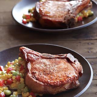 Smoked Pork Chops with Summer Succotash Recipe