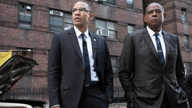 Nigel Thatch as Malcolm X and Forest Whitaker as 'Bumpy' Johnson in Godfather Of Harlem. Picture: SUPPLIED/SHOWMAX