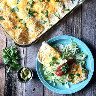White Chicken Enchiladas.
