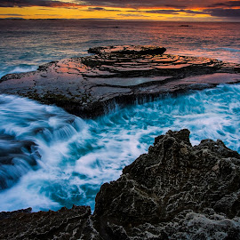 The Cauldron by Crighton Klassen - Landscapes Waterscapes ( rock, seascape, sunrise, ocean, sea )