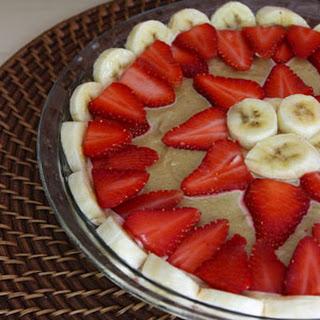 Strawberry Banana Cream Pie | Raw Vegan