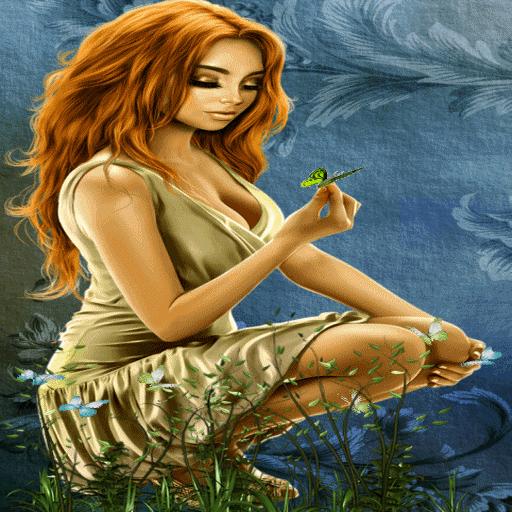butterflies  Girl Live Wallpaper
