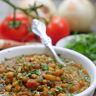 Instant Pot Indian Black Eyed Pea Curry.