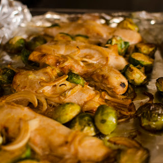 One Pan Chicken and Brussels Sprouts