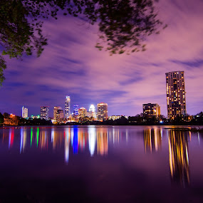 Austin Texas by Craig Curlee - City,  Street & Park  Skylines ( austin, colorado river, skyline, reflection, texas, cityscape )