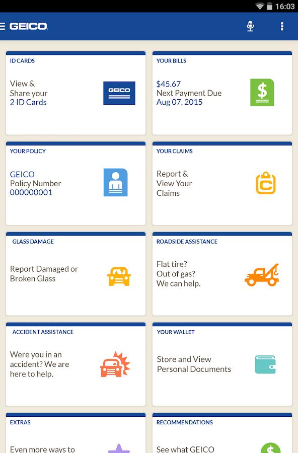 GEICO Mobile- screenshot