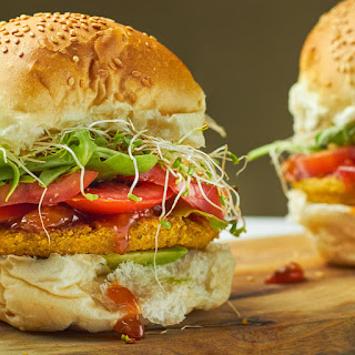 Chickpea, Pumpkin and Dill Burgers.