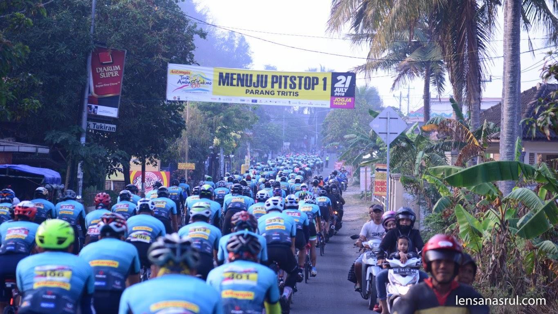 Peserta TDA 2018 menuju Pitstop 1 Pantai Parangtritis Yogyakarta