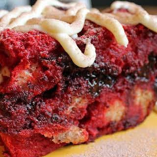 Red Velvet Bread Pudding (Crock Pot).