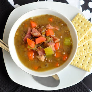 Ham and Green Lentil Soup.