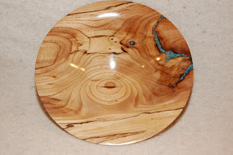 Photo: Spalted Elm with Turquoise Inlace