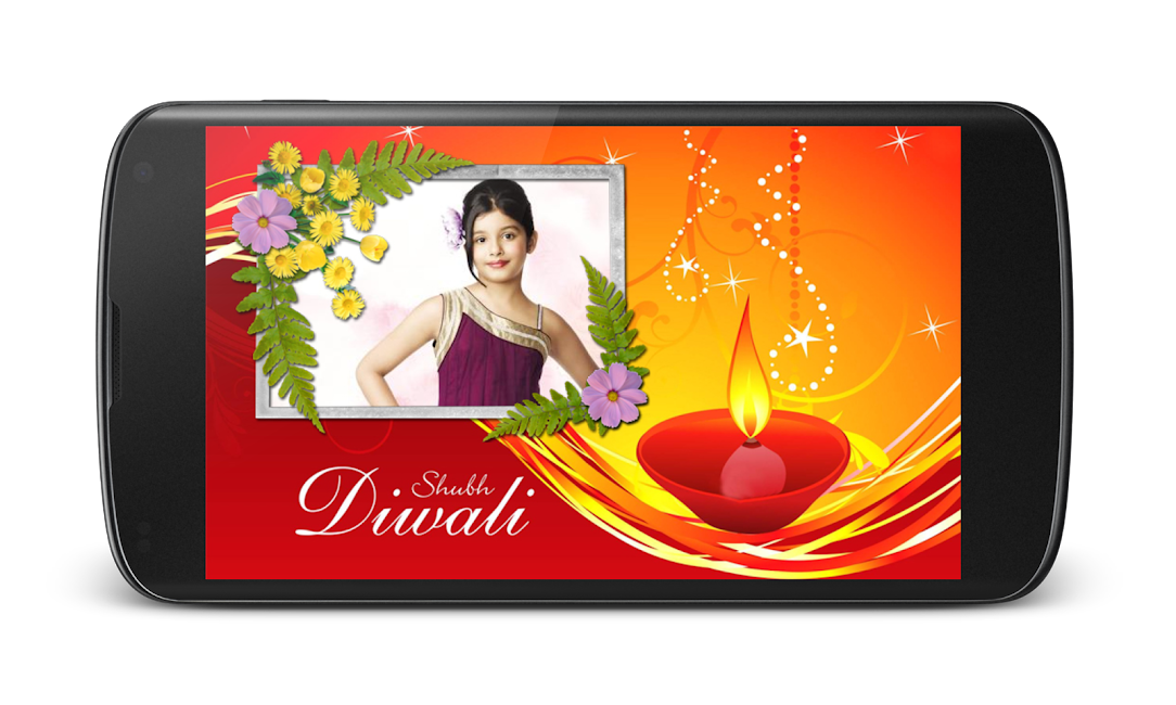 #5. Diwali Photo Greeting Frames (Android)