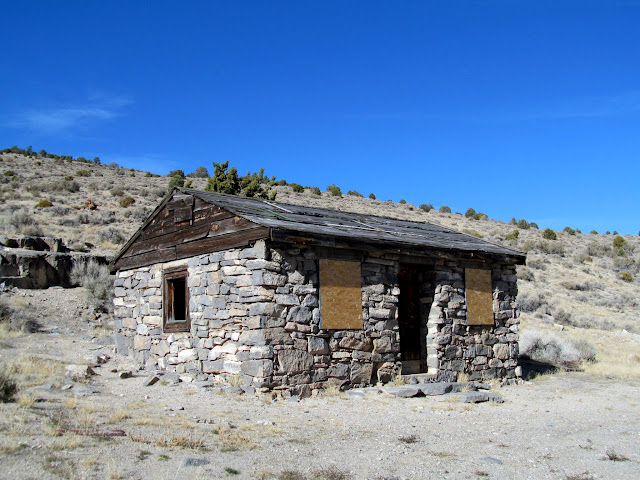 Stone cabin in Sawtooth Canyon