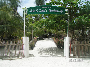 Photo: Main Entrance , AABANA Beach- and Watersport Resort Malapascua, Mike & Diose´s Beachcottage.  +63 905 263 2914-2915, www.malapascua.de Email: office@malapascua.de