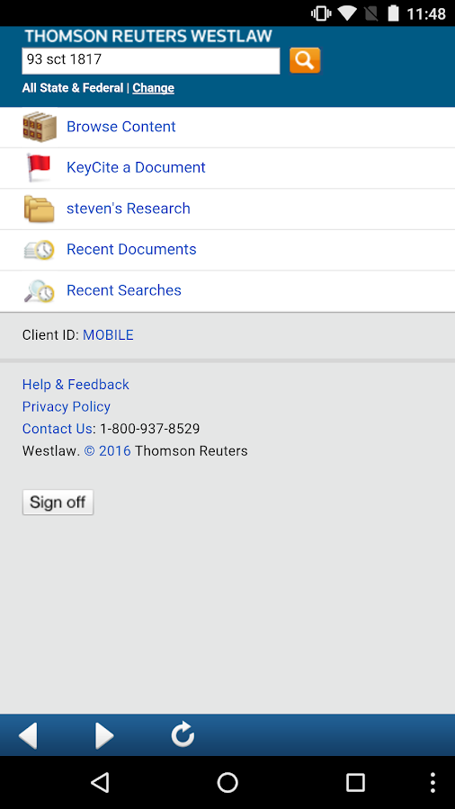 Westlaw- screenshot