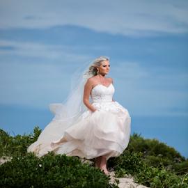 Sands by Lood Goosen (LWG Photo) - Wedding Bride ( makeup, bride, wedding dress, dress, hair, wedding photography, wedding photographer, weddings, beach, wedding photographers, wedding, brides )